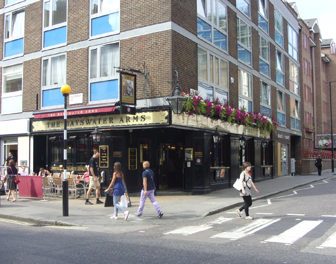 Bayswater Arms pub on Queensway in London's Bayswater