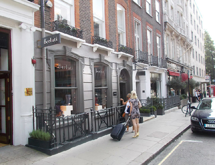 Berluti mens shoe shop in London's Mayfair