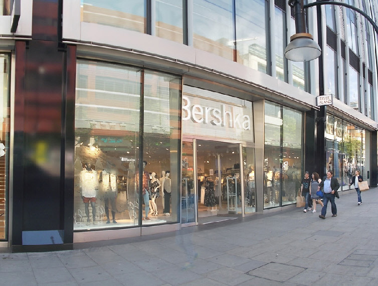 Bershka fashion store on London's Oxford Street near to Marble Arch.