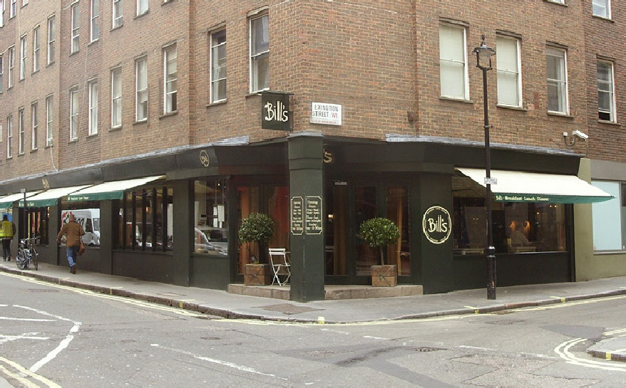Bill's restaurant in London's Soho