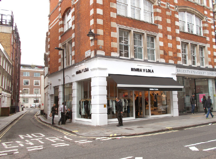 Bimba y Lola womenswear shop in London's Marylebone