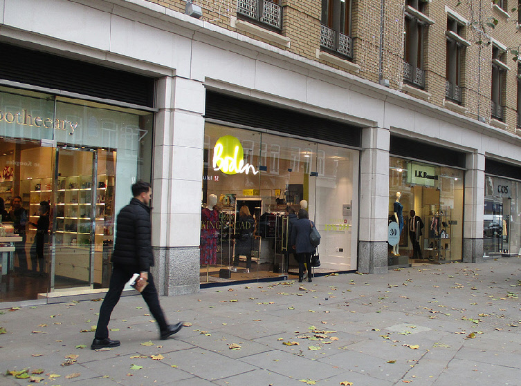 Boden clothing shop on King's Road in Chelsea