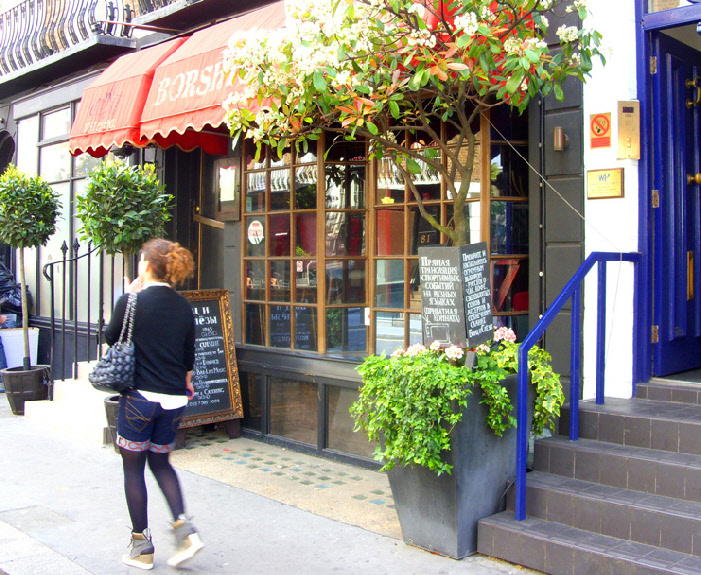 Borshtch and Tears Russian restaurant in London's Knightsbridge