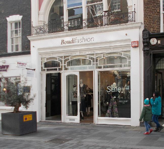 Boudi Fashion shop in London's Mayfair