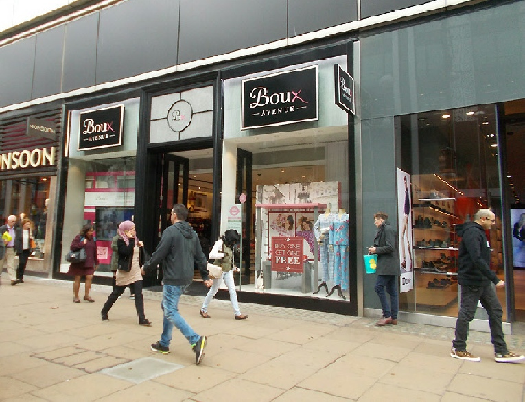 Boux Avenue underwear shop shop near Marble Arch in London