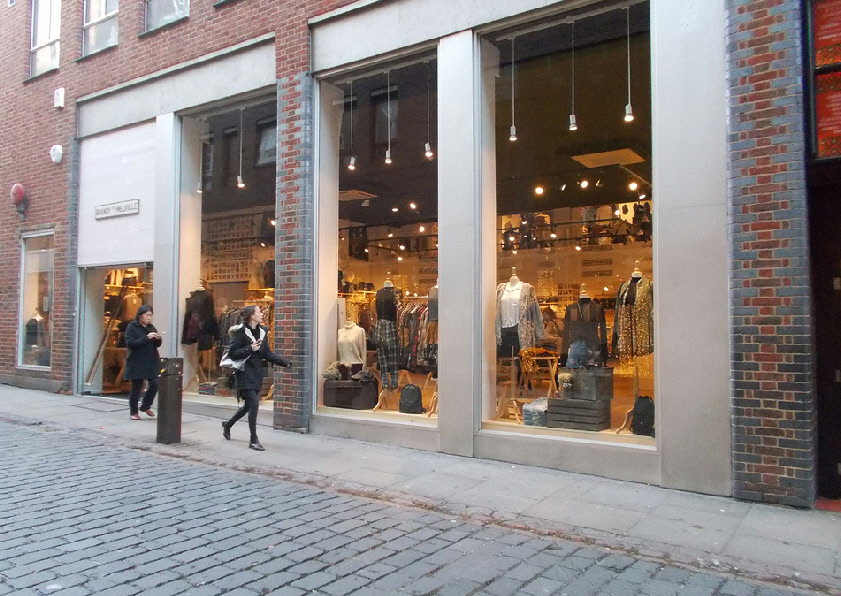 Brandy Melville girl's fashion shop in London's Covent Garden
