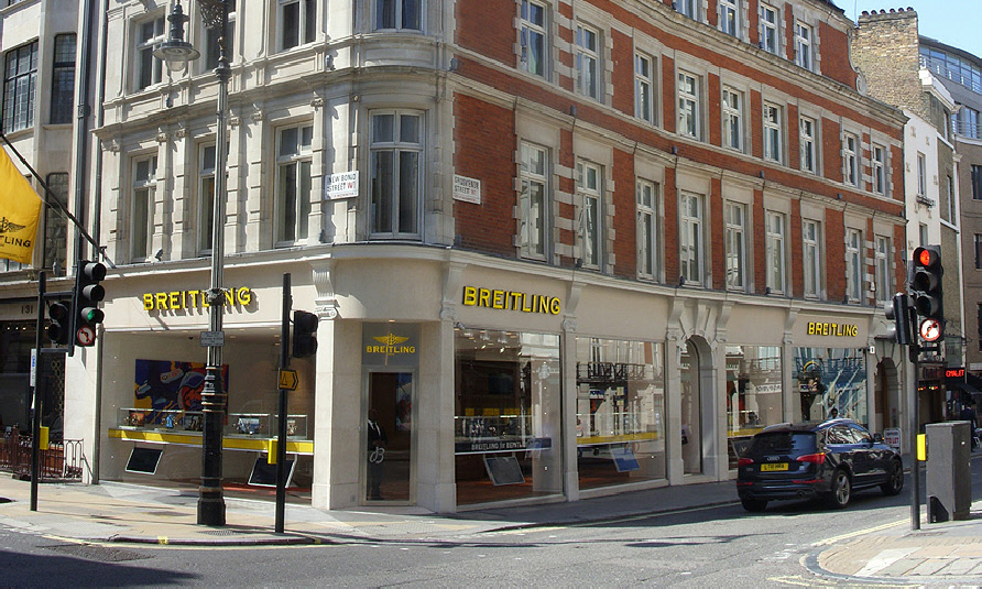 Breitling watches shop in London's Mayfair