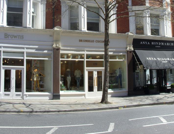 Brunello Cucinelli shop in London's Chelsea