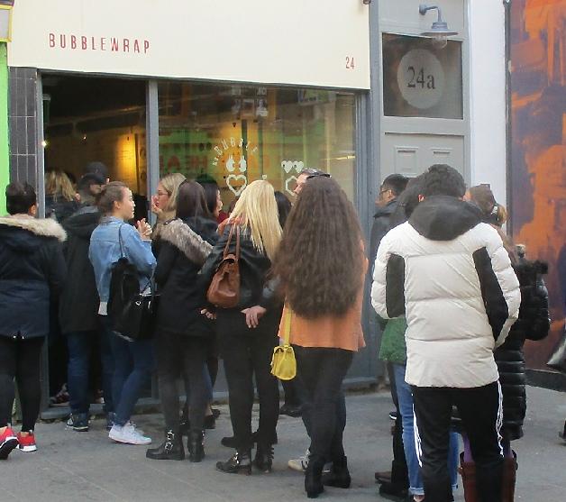 Bubblewrap waffle takeaway in London's Chinatown