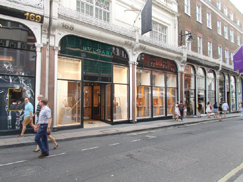 Bulgari jewellery shop in London's Mayfair