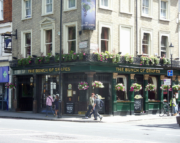 The Bunch of Grapes pub in London's Knightsbridge
