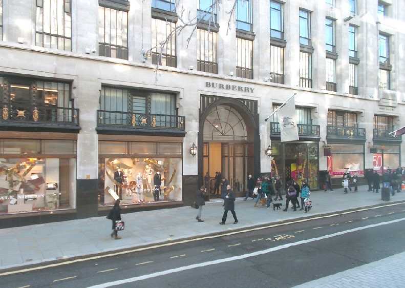 Burberry store on London's Regent Street