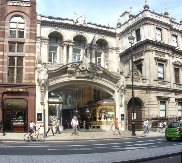 Burlington Arcade on London's Piccadilly