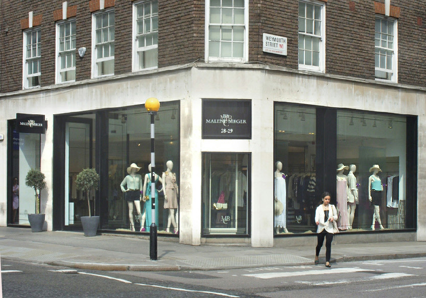 By Marlene Birger on London's Marylebone High Street