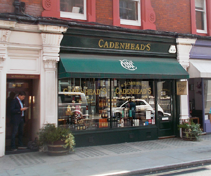 Cadenhead's whisky shop in London's Marylebone