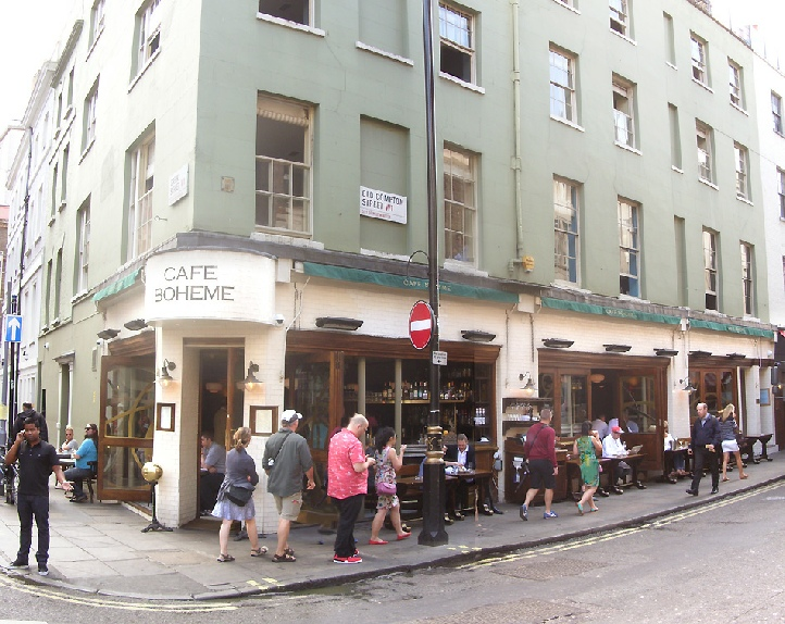 Cafe Boheme in London's Soho