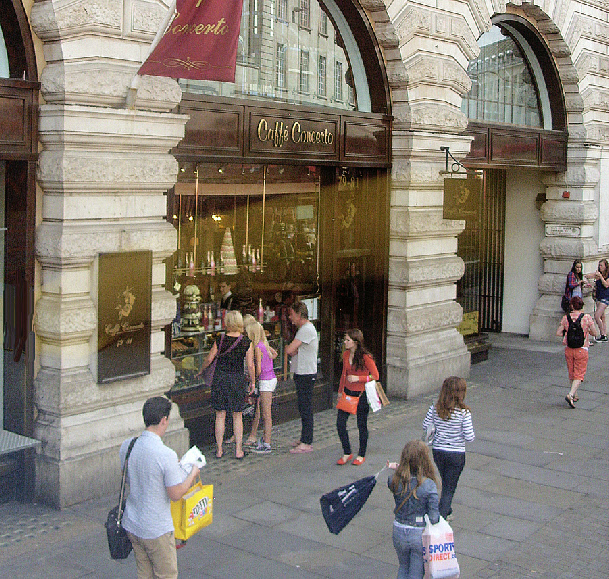 Caffe Concerto patisserie on London's Regent Street