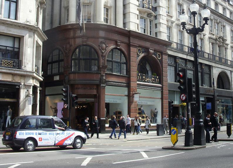 Calvin Klein Jeans store on London's Regent Street