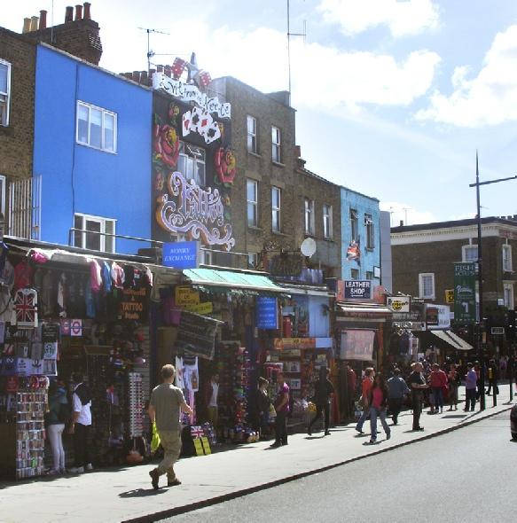 Souvenir shops near Camden Market