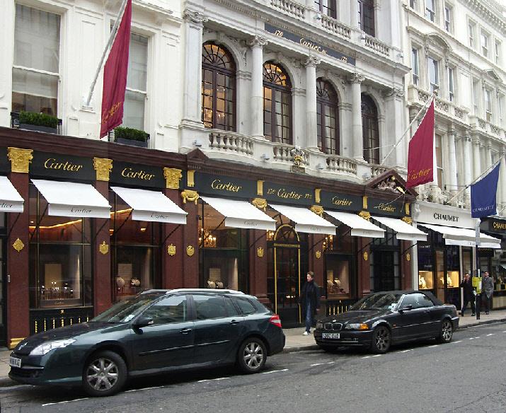 Cartier shop on Bond Street