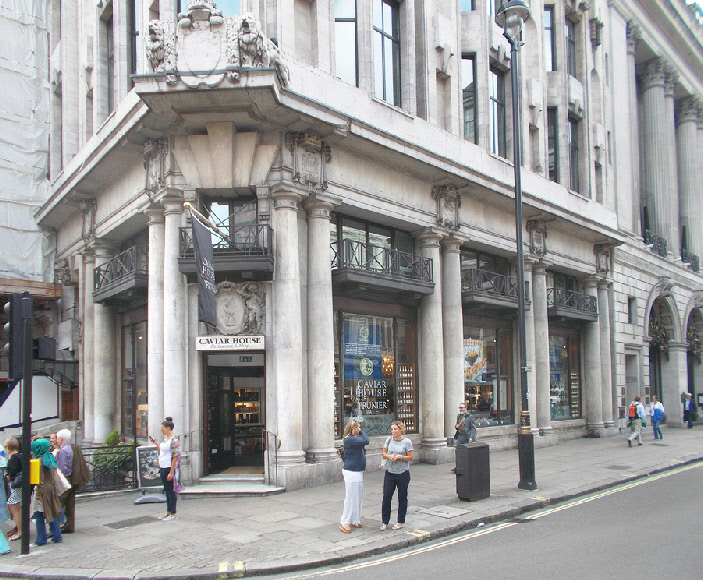 Caviar House on London's Piccadilly