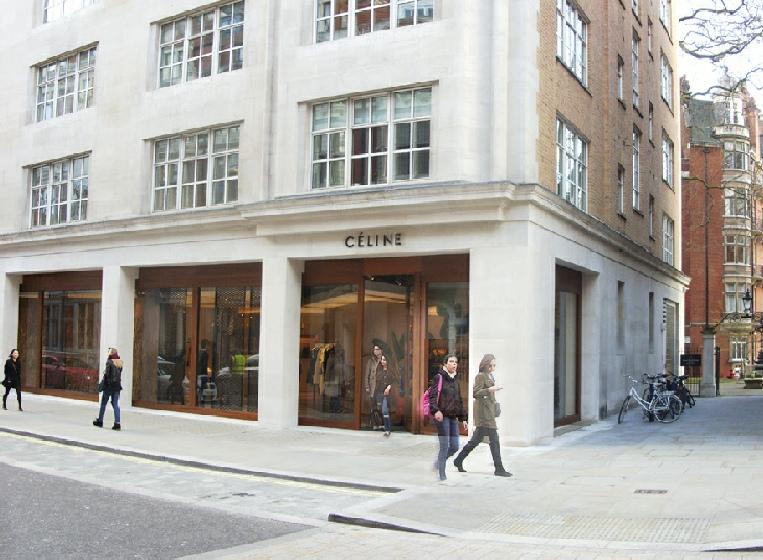 Celine on Mount Street in London's Mayfair.