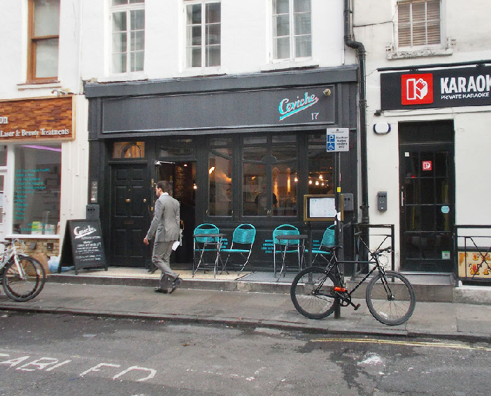 Cerviche Peruvian restaurant in London's Soho