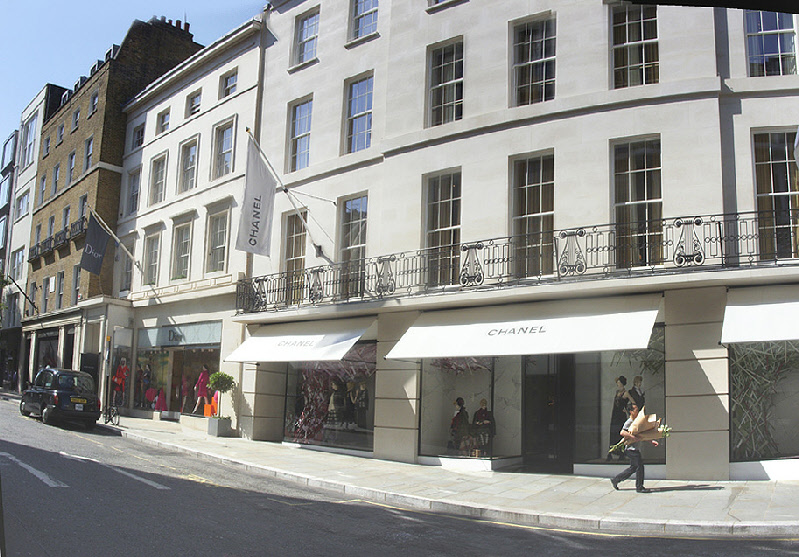 Chanel womenswear store in London's Mayfair