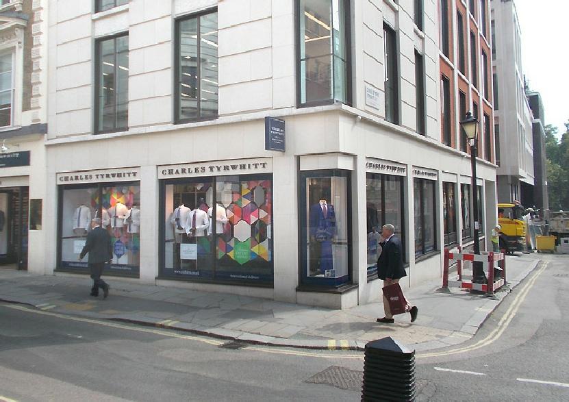Charles Tyrwhitt shirts shop in St James's in London