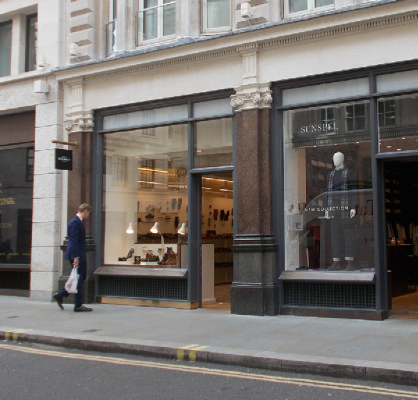 Cheaney shoe shop in London's Jermyn Street
