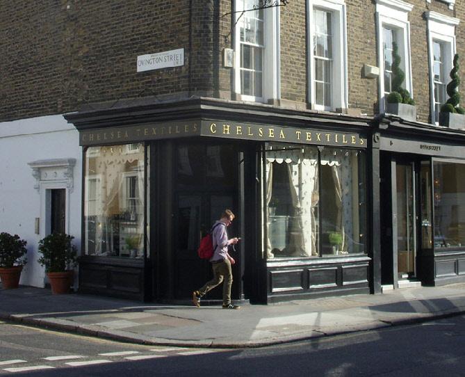 Chelsea Textiles shop on London's Walton Street.