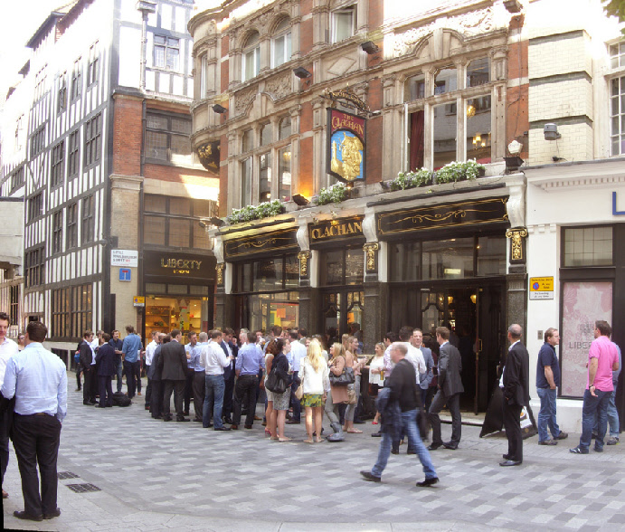 The Clachan pub on Kingly Street in London's Soho, near to Carnaby Street