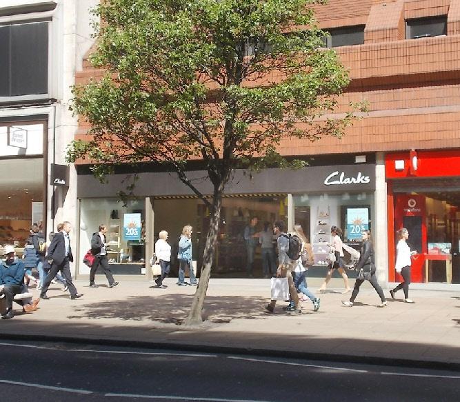 Clarks shoe shop near London's Marble Arch