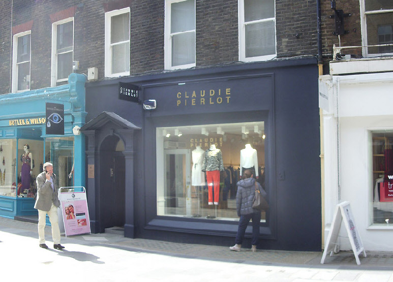 Claudie Pierlot French fashion shop in London's Mayfair