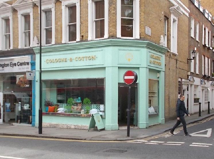 Cologne and Cotton linen shop in London's Kensington.