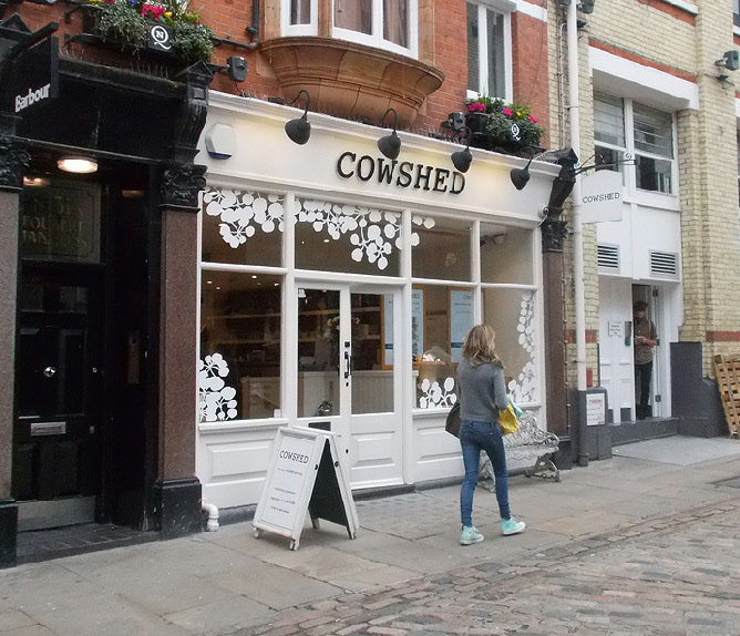Cowshed cosmetics shop in London's Carnaby