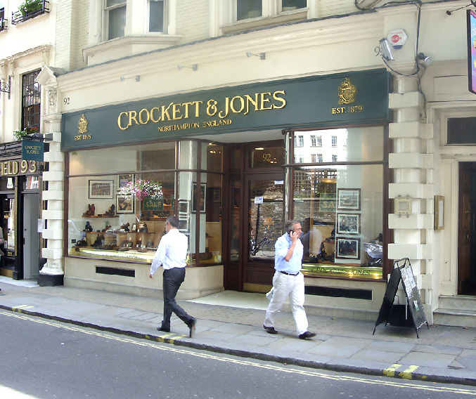 Crockett and Jones men's shoe shop on London's Jermyn Street