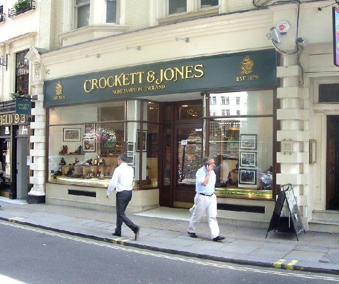 Crockett and Jones men's shoe shop on London's Jermyn Street