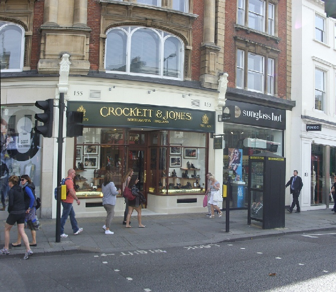 Crockett and Jones shoe shop in London's Knightsbridge