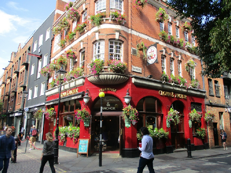Crown and Anchor pub in London's Covent Garden