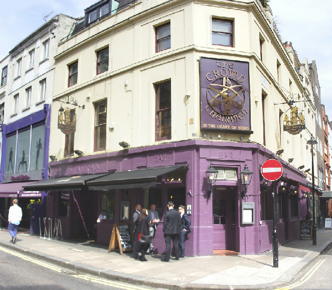 The Crown and Two Chairmen pub in London's Soho