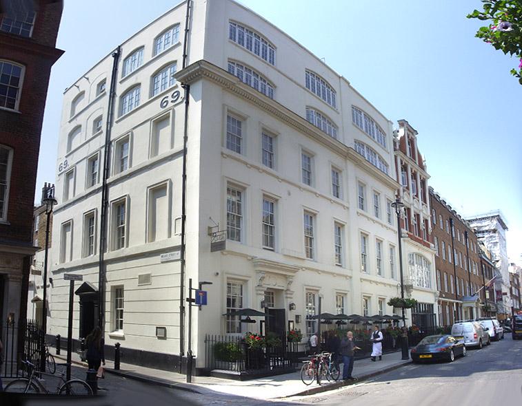 Dean Street Townhouse Hotel in London's Soho