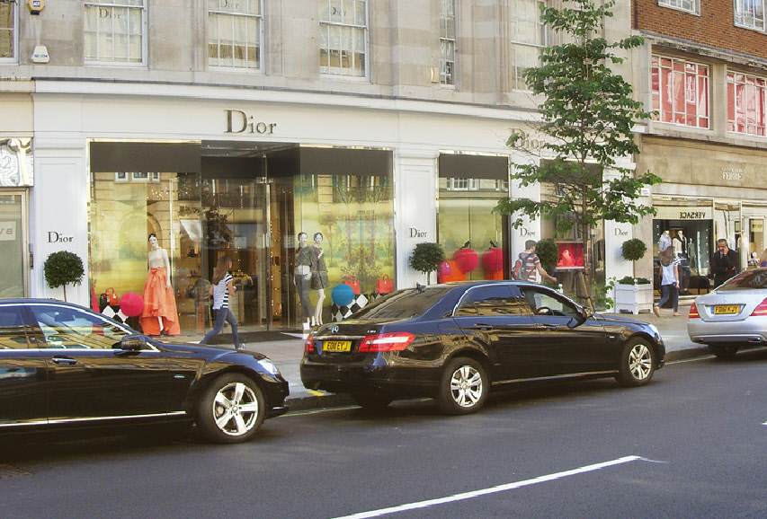 The Dior store in London's Knightsbridge
