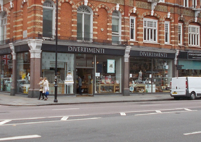 Divertimenti kitchen shop in London's Knightsbridge