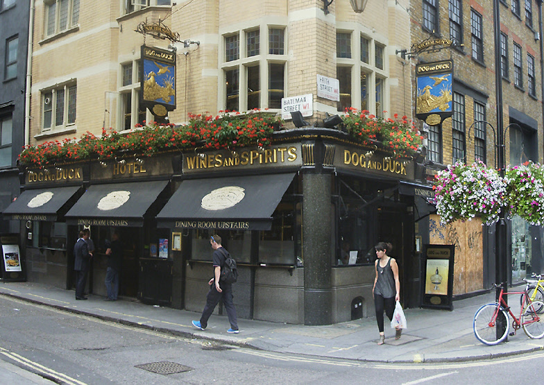 The Dog and Duck pub in London's Soho