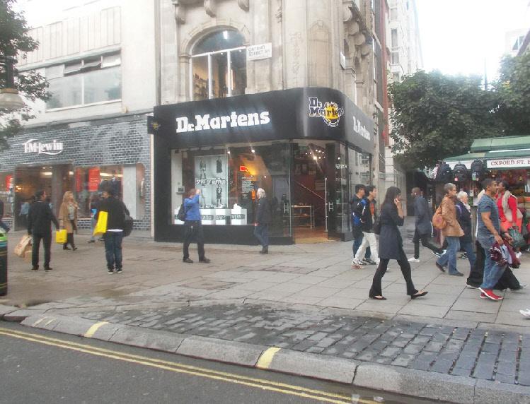 Dr Martens shoe shop on London's Oxford Street