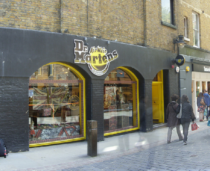 Dr. Martens shoe shop in London's Covent Garden