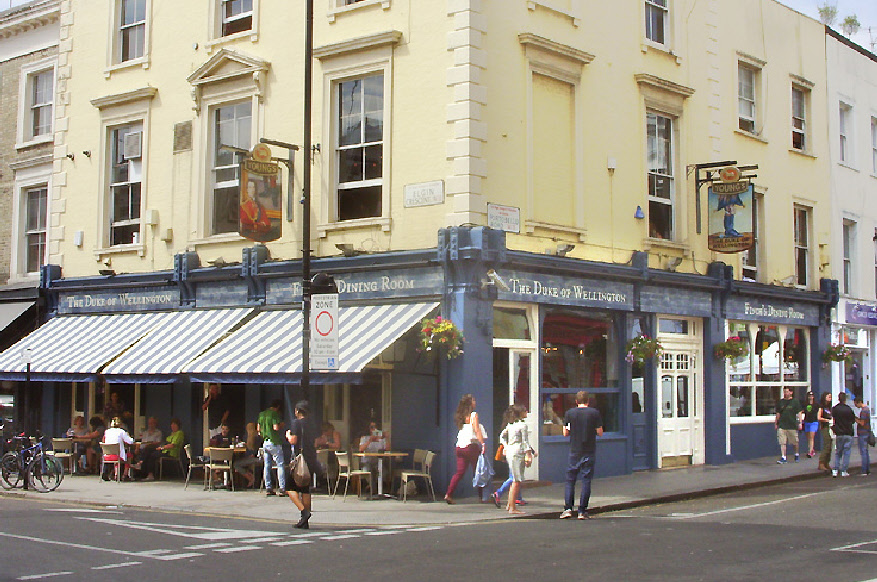 The Duke of Wellington pub in London's Notting Hill