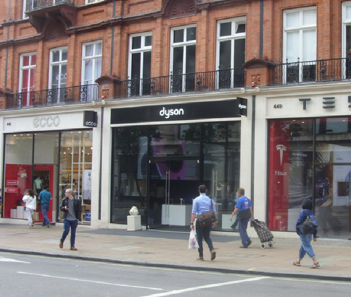 Dyson home appliance shop on London's Oxford Street