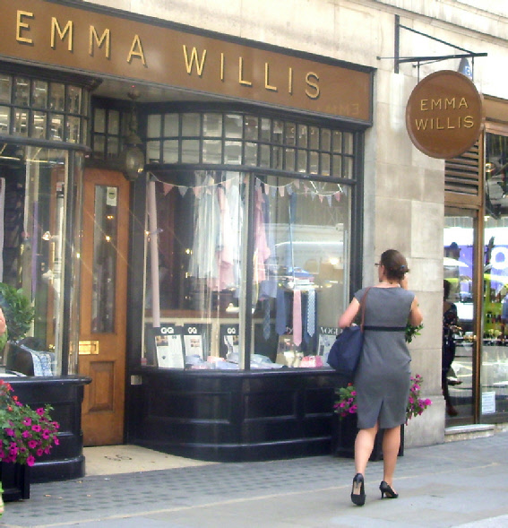 Emma Willis bespoke shirts shop in London